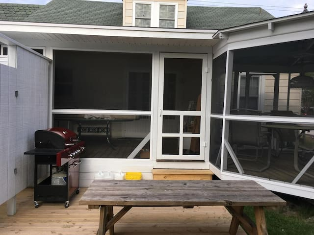 Back porch & patio with grill