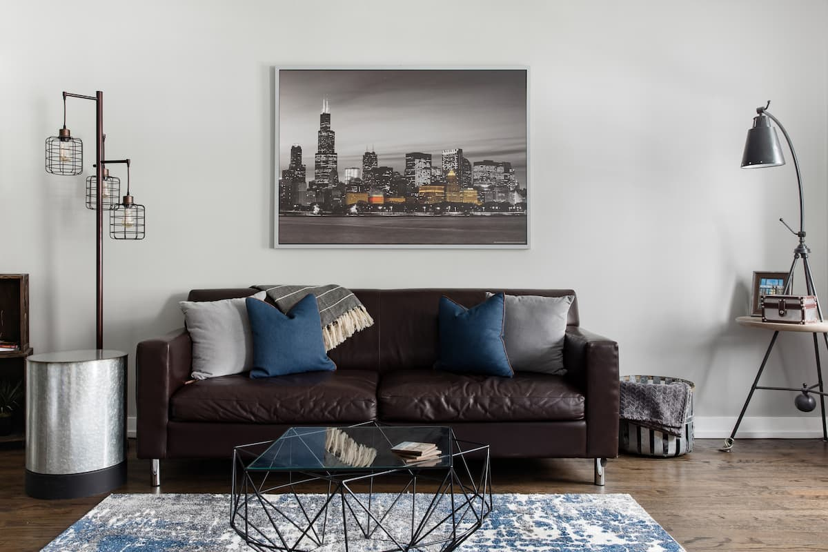Get Cozy at a Powder-Blue Residence in the Heart of Pilsen