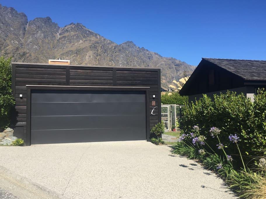 Driveway entrance garage