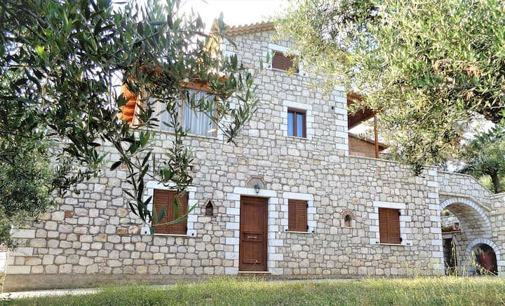 Traditional stone country house Panos