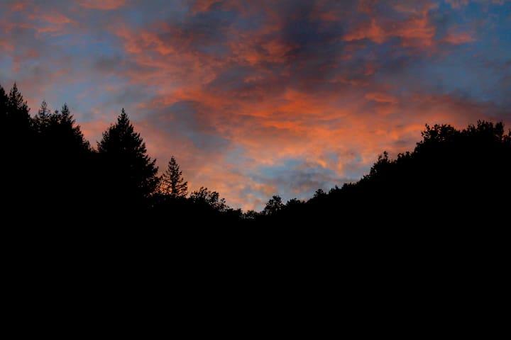 Ciel rouge du soir