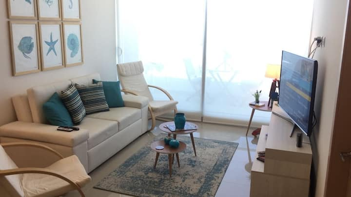 Ocean View 1BR Apartment. Brand new (WiFi)
