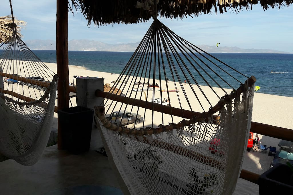 Take a rest in these individual hammock, enjoying the view