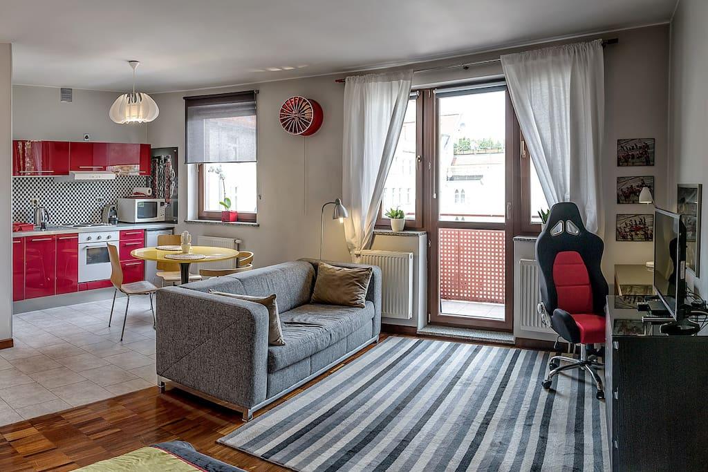 Apartament Enzo to tzw. open space
