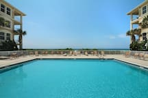 Gulf Front Heated Pool only for Sunset Beach Guests