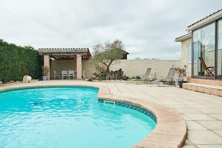 maison au calme avec piscine. - Gontaud-de-Nogaret - Casa
