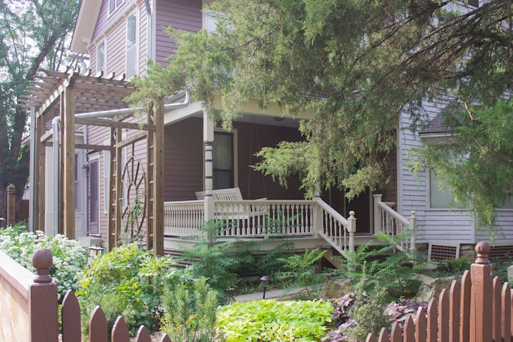 1870's Victorian on wooded lot, entire 2nd floor