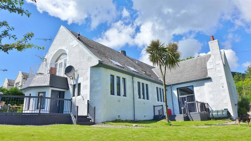 Luxury converted Church sleeps 12, open sea views