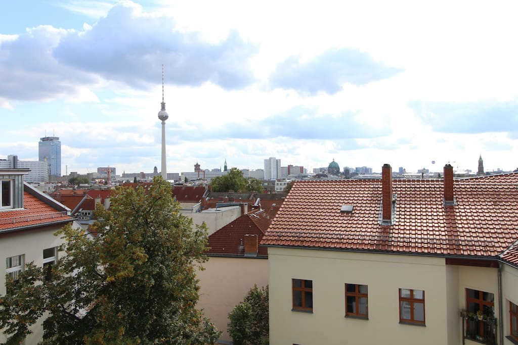 The amazing view over Berlin.