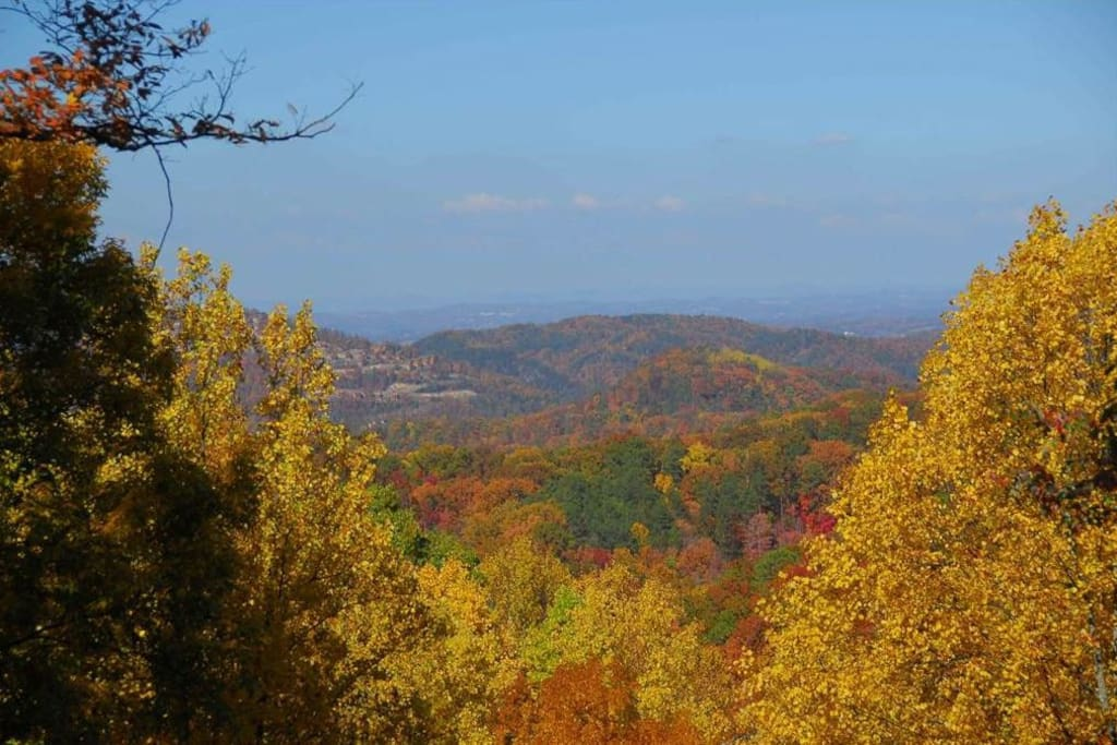 Beautiful Mountain View in the Fall