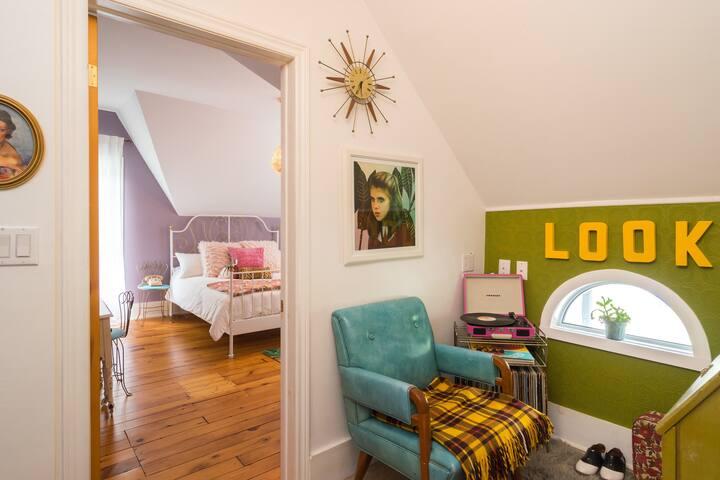 View into Margot's Bedroom from the Look Nook (Suzy Bishop inspired den)