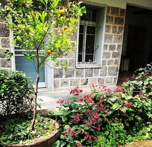 Winery garden room
