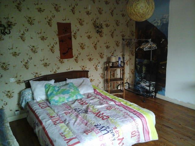 Chambre rustique - Le Gua - Rumah