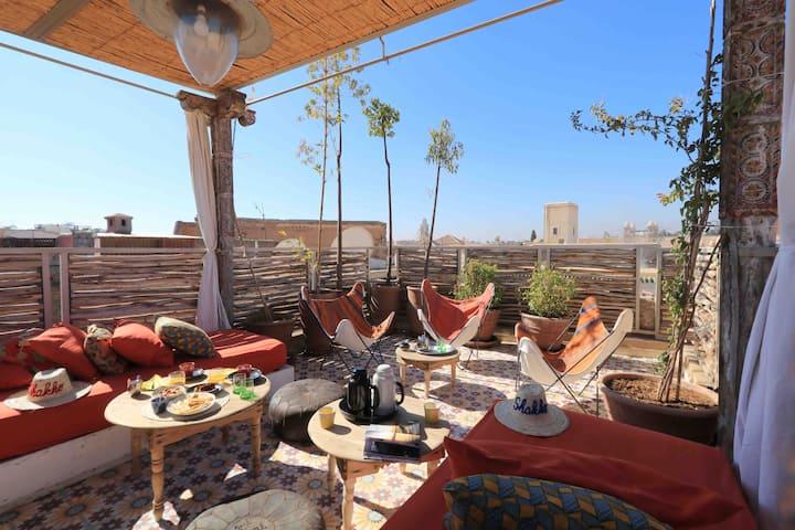 Riad Shakho: logement privatisé, 2 chambres, B&B