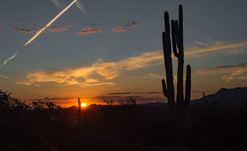 Sunset from the guest house by Guest Marlene Hubbard