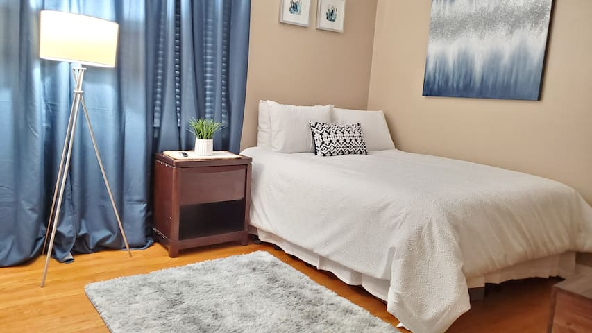 Furnished Room Queen size bed