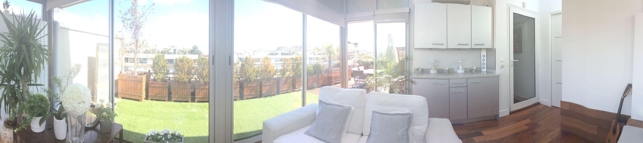 Roland Garros, Superbe duplex, Terrasse, Parking - Boulogne-Billancourt - Flat