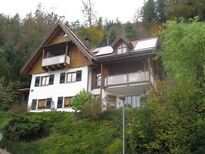 Urlaub mit Blick auf Schiltachs Fachwerkhäuser