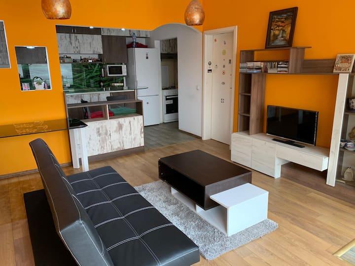 Cool and quiet apartment.