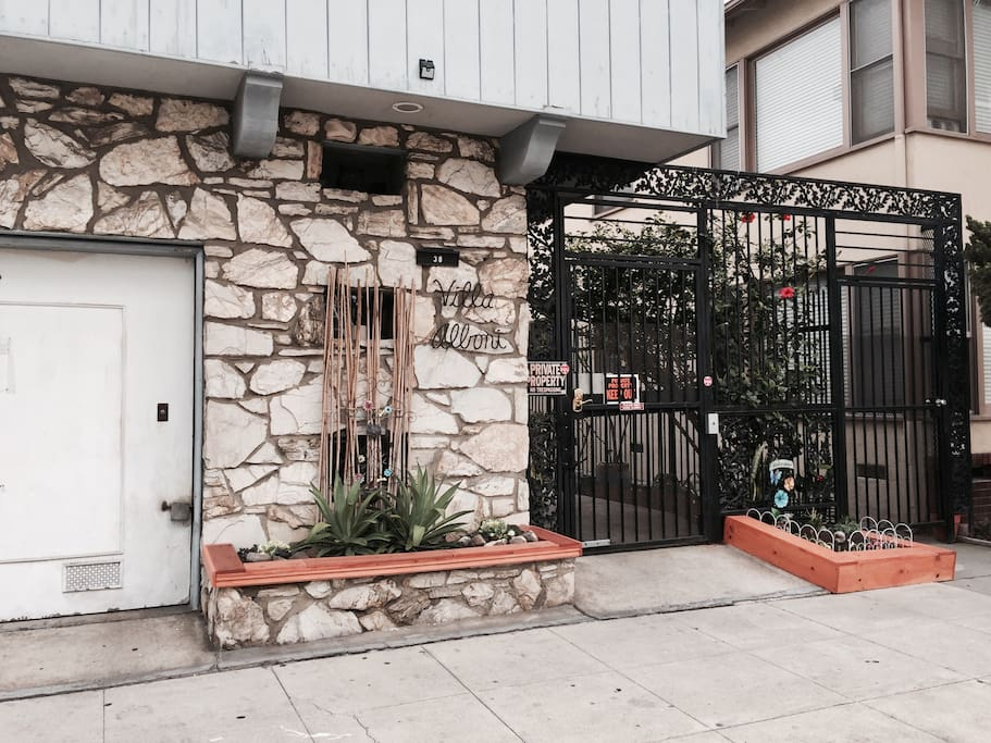Front Entrance. Secure Building. Keyless entry