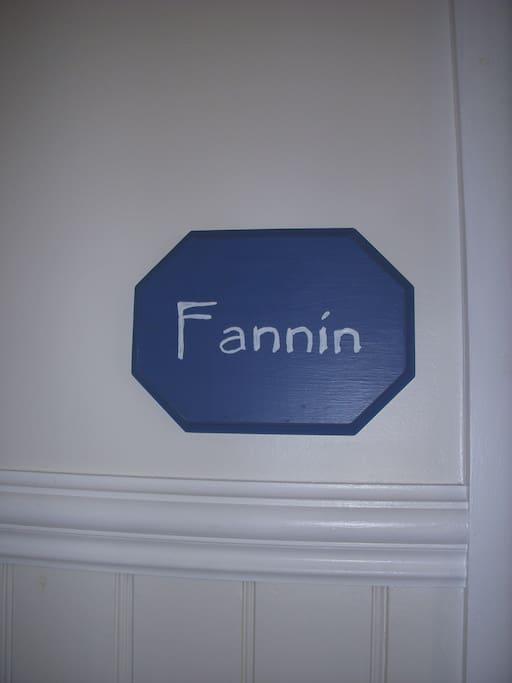 Fannin Room on the Main Floor your room awaits you