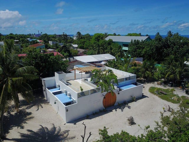 Aerial view of Noovilu Suites Guest House