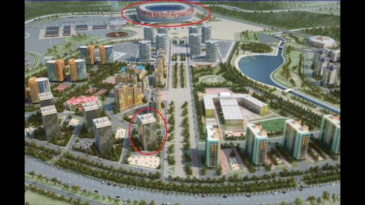 High comfort Apartment 600 meters of stadium arena