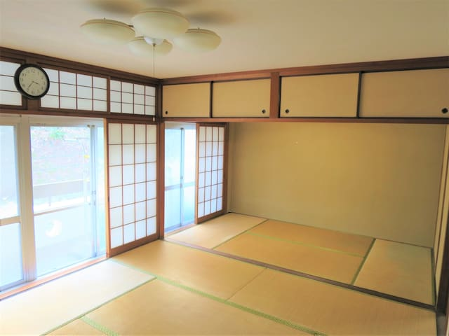 PRIVATE TATAMI room in Tokushima central (max. 6)