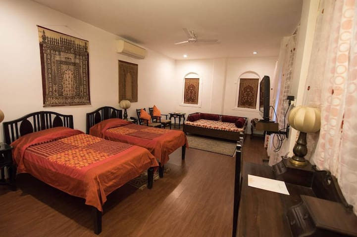 Twin Bed Room in a Heritage Property