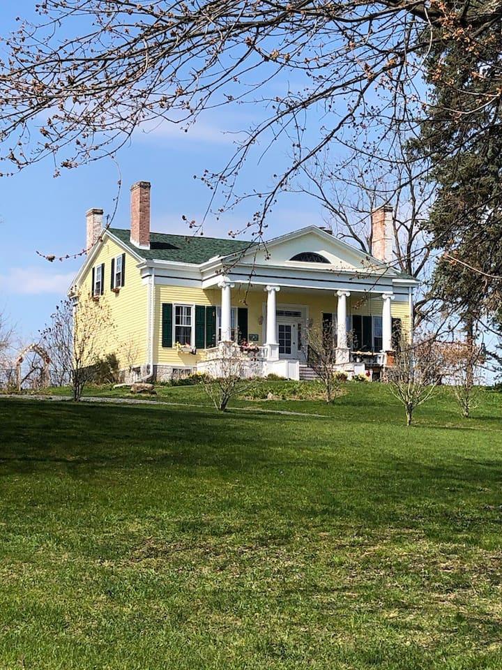 Gorgeous 1838 Greek Revival  Finger Lakes Home