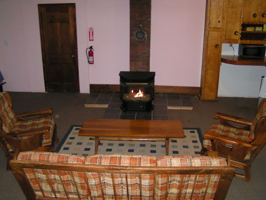 Relax in front of the gas fireplace!