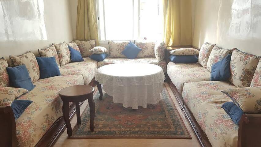 CozY spacious with bigg living room - Rabat - Apartamento