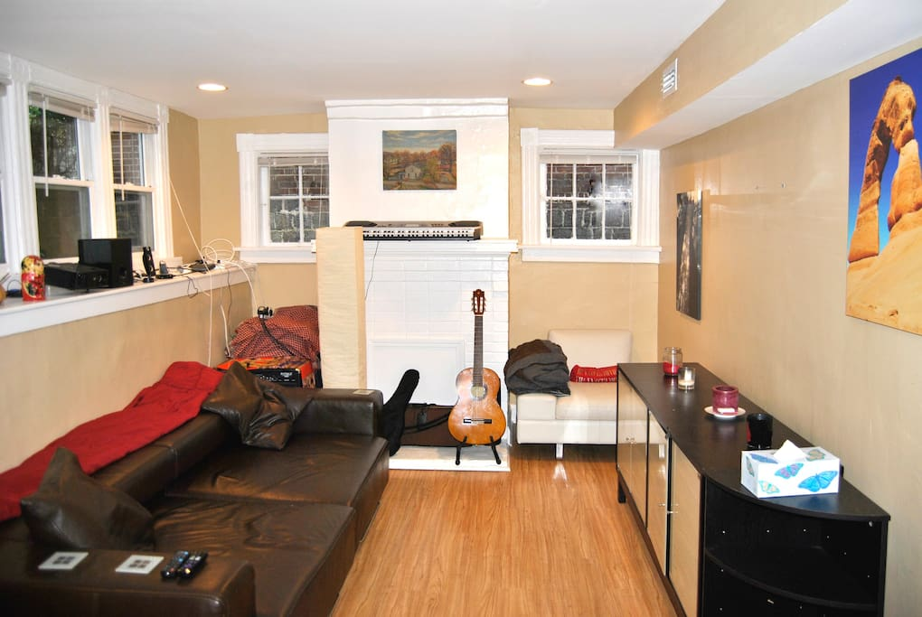 The multi-purpose room, good for music-making and lounging and Netflix.