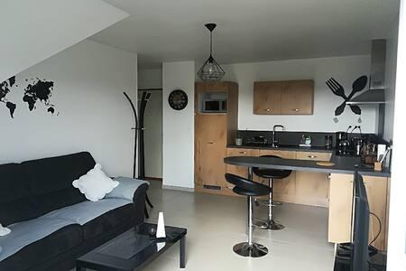 Appart. moderne sur Caen, garage & WIFI.
