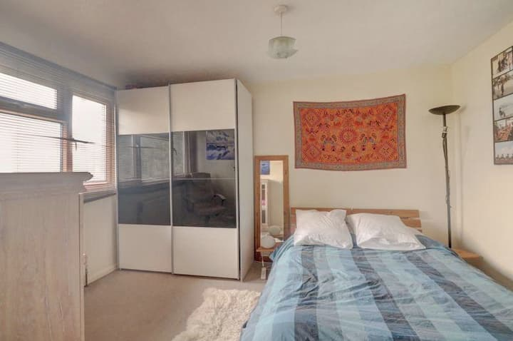 Comfortable double bedroom in modern Chesham home