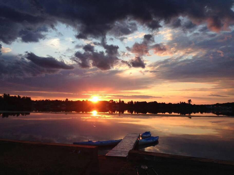 Vu sur le coucher de soleil magnifique.