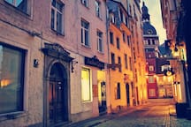 Our Romantic street view during the dusk