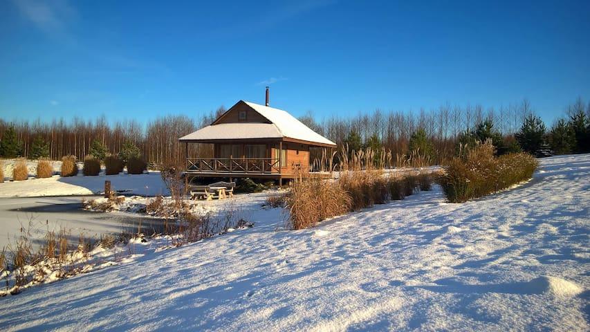 Sauna in winter.