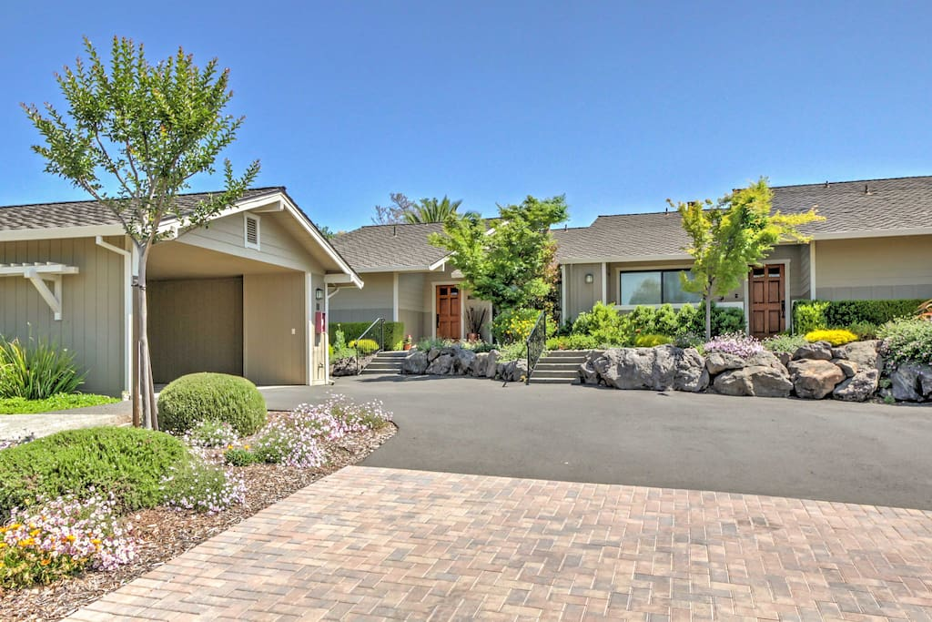 The home is located at the base of the celebrated Silverado Trail, home to many of the area's fine wineries and restaurants.