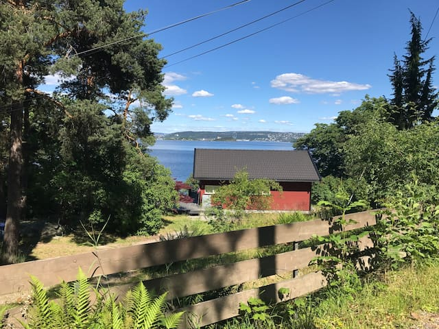 Cottage on the Shore of the Oslo Fjord.