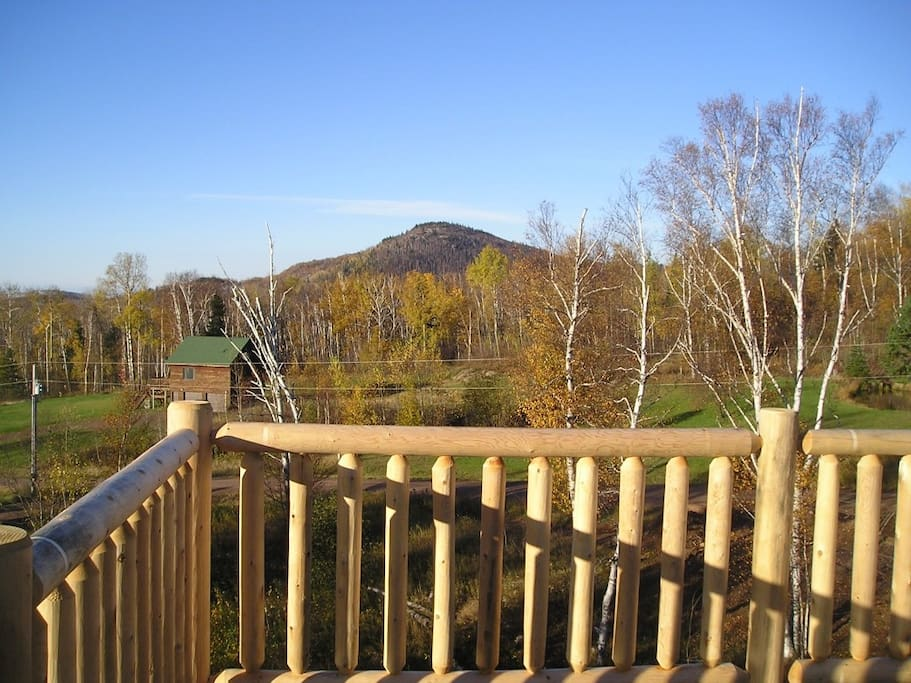 Enjoy this view of Eagle Mountain and Lake Superior from the Eagle`s Nest at this inland home.