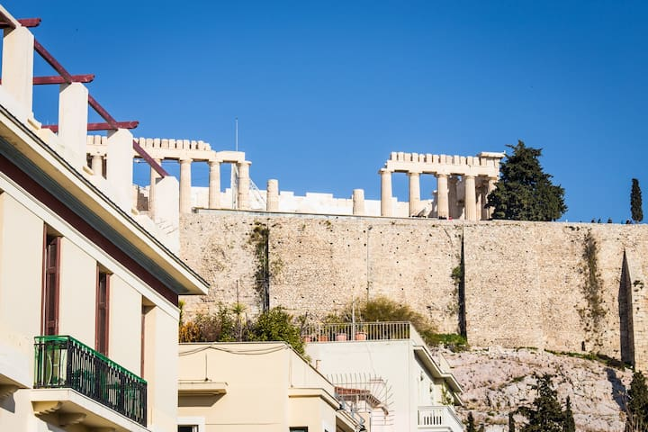 Amazing Acropolis view,2 bedrooms next to metro