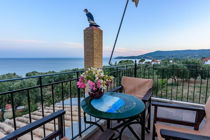 Eros cozy, perfect location, panoramic sea view