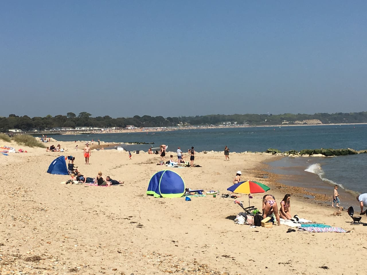 Mudeford Spit dog friendly beach