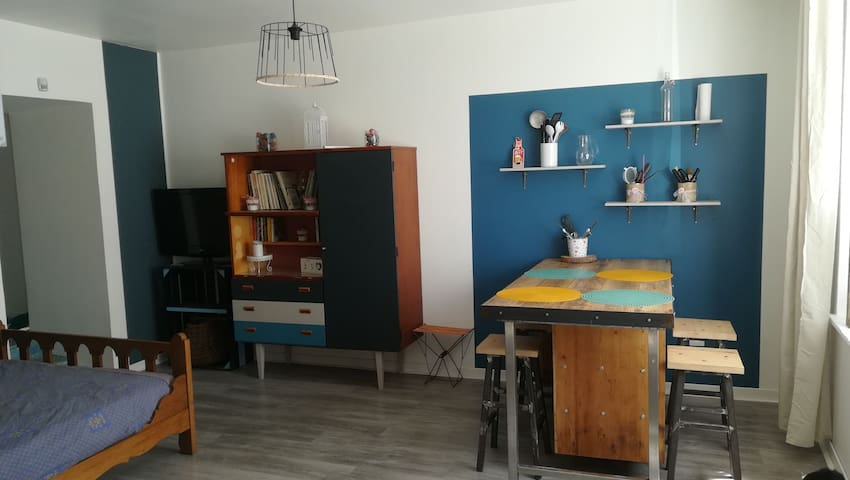 """Agréable studio Morlaix """"au bout de la rue"""""""