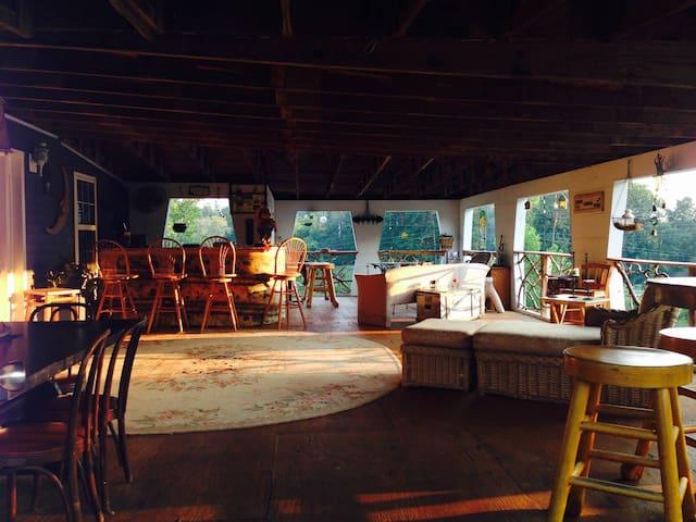 guest house top deck, favorite hangout