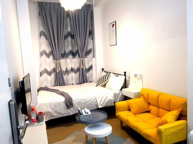 【方块公寓】上下九步行街时尚品质大床房102