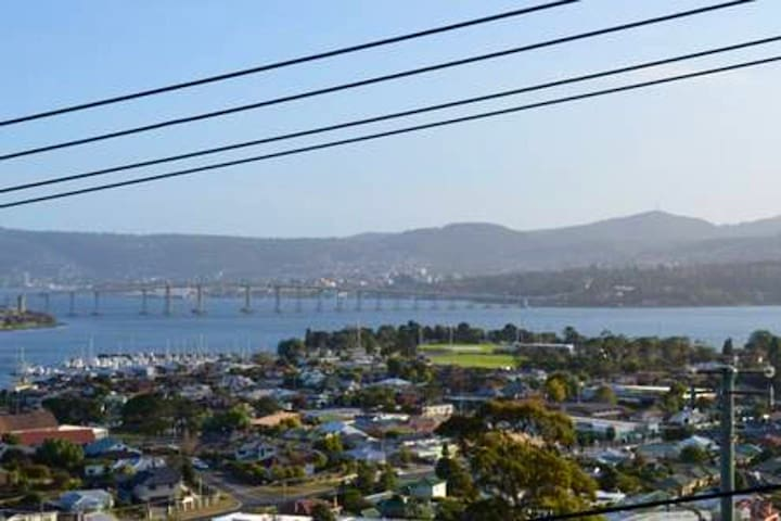 Hobart, Tasmania. A home with beautiful views.