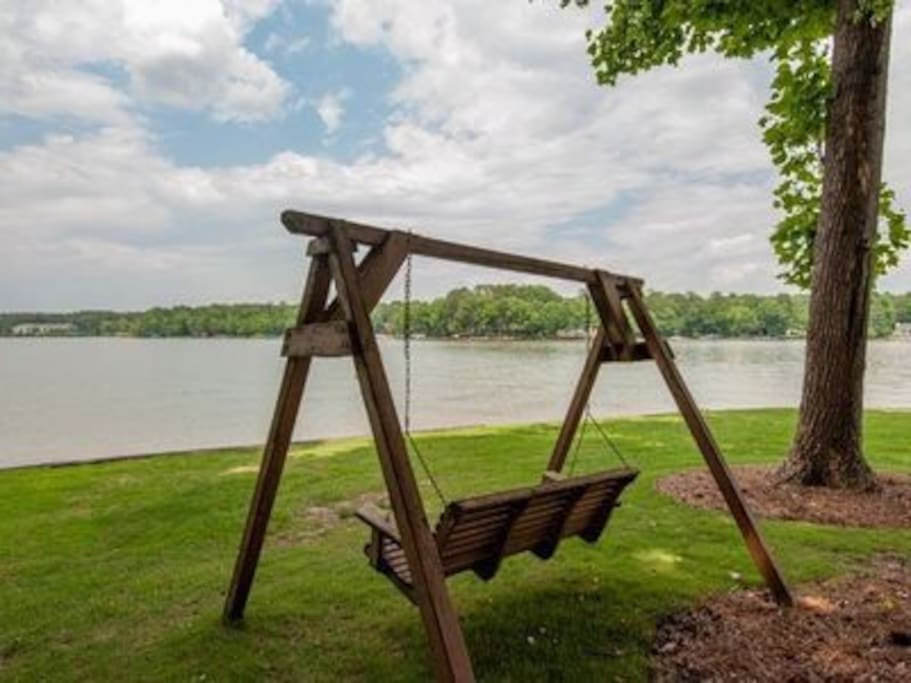 There are so many great places to relax on the property!  This swing provides a place to watch as the sun rises and sets.  There are frequent opportunities to enjoy seeing nature in action.