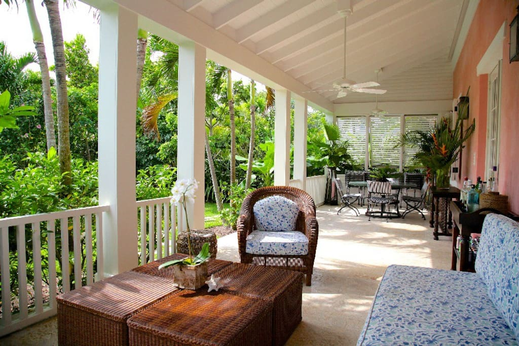 Enjoy a drink and relax on the porch
